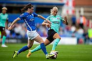 Birmingham City midfielder Lucy Quinn (17) runs forward during the FA Women's Super League match between Birmingham City Women and Brighton and Hove Albion Women at St Andrews, Birmingham United Kingdom on 12 September 2021.