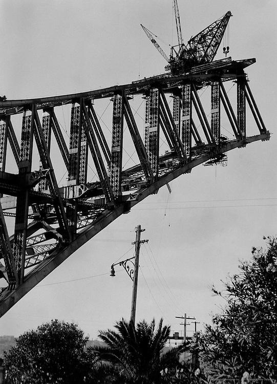 Sydney Harbour Bridge Under Construction, Sydney, Australia, 1930