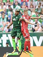 v.l. Theodor Gebre Selassie (Bremen), Joshua Kimmich<br /> Bremen, 26.08.2017, Fussball Bundesliga, SV Werder Bremen - FC Bayern München 0:2<br /> <br /> Norway only