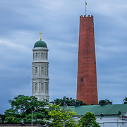 Baltimore's historic Shot Tower, once used for the manufacture of ammunition.