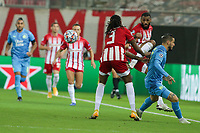 PIRAEUS, GREECE - OCTOBER 21: Actiom during the UEFA Champions League Group C stage match between Olympiacos FC and Olympique de Marseille at Karaiskakis Stadium on October 21, 2020 in Piraeus, Greece. (Photo by MB Media)