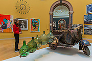 Petrol CArgo by Romauld Hazoume and other works in the Wohl Central Hall - The Royal Academy's 249th Summer Exhibition - co-ordinated by Eileen Cooper RA. The hanging committee will consist of Royal Academicians Ann Christopher, Gus Cummins, Bill Jacklin, Fiona Rae, Rebecca Salter and Yinka Shonibare. This year, the Architecture Gallery will be curated by Farshid Moussavi RA. The exhibition, sponsored by Insight Investment is open to the public 13 June – 20 August 2017. London 07 June 2017.