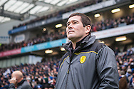 Burton Albion Manageer Nigel Clough during the EFL Sky Bet Championship match between Brighton and Hove Albion and Burton Albion at the American Express Community Stadium, Brighton and Hove, England on 11 February 2017. Photo by Bennett Dean.