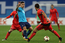 September 28, 2017 - Saint Petersburg, Russia - Leandro Paredes of FC Zenit Saint Petersburg vie for the ball during the UEFA Europa League Group L football match between FC Zenit Saint Petersburg and FC Real Sociedad at Saint Petersburg Stadium on September 28, 2017 in St.Petersburg, Russia. (Credit Image: © Igor Russak/NurPhoto via ZUMA Press)