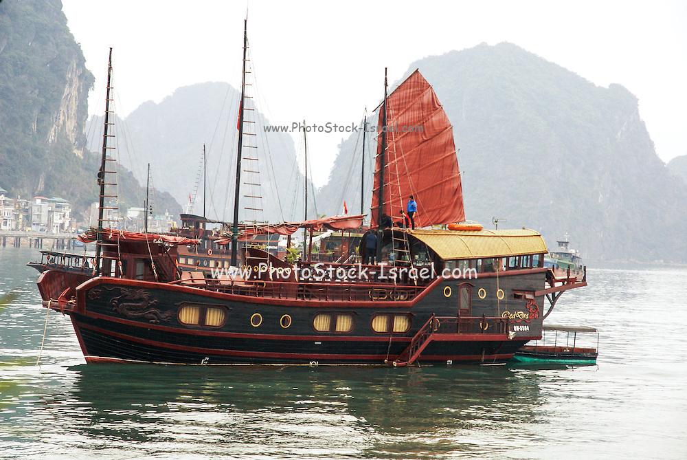 Vietnam, Halong Bay, Traditional Junk