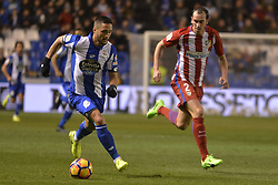 March 2, 2017 - La Coruna, Spain - Andone and Godín. La Liga Santander Matchday 25. Riazor Stadium, La Coruna, Spain. March 02, 2017. (Credit Image: © Monica Arcay Carro/VW Pics via ZUMA Wire/ZUMAPRESS.com)