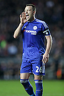 John Terry, the Chelsea captain shouts at his players. The Emirates FA cup, 4th round match, MK Dons v Chelsea at the Stadium MK in Milton Keynes on Sunday 31st January 2016.<br /> pic by John Patrick Fletcher, Andrew Orchard sports photography.