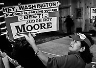 """Chu Green orgnialy from Vietnam, a residnet of Moblie for 44 years. She doesn't think Roy Moore is gulity and would vote for him even if he was. <br /> """" we need his vote in the senate to make America great Again,"""" she said."""