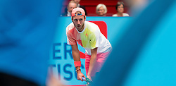 25.10.2016, Stadthalle, Wien, AUT, ATP Tour, Erste Bank Open, 1. Runde, im Bild Lucas Pouille (FRA) // Lucas Pouille of France during the 1st round match of Erste Bank Open of ATP Tour at the Stadthalle in Vienna, Austria on 2016/10/25. EXPA Pictures © 2016, PhotoCredit: EXPA/ Sebastian Pucher