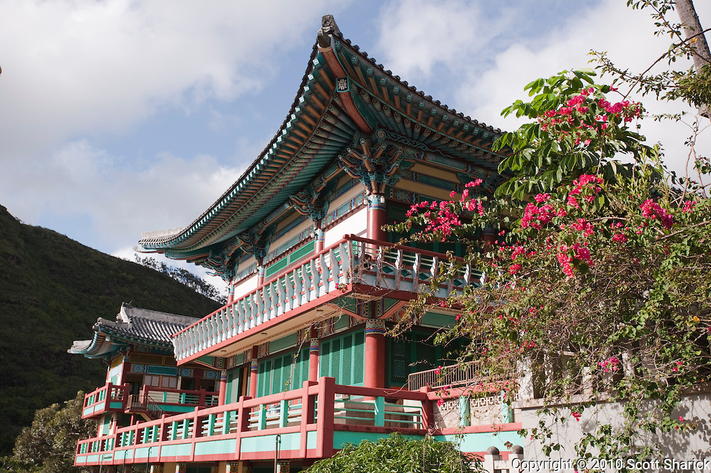 The Mu-Ryang-Sa Buddhist Temple in Palolo Valley on Oahu.