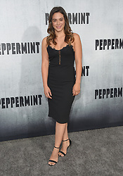 August 28, 2018 - Hollywood, California, U.S. - Stephanie Arcila arrives for the premiere of the film 'Peppermint' at the Regal Cinemas LA Live theater. (Credit Image: © Lisa O'Connor/ZUMA Wire)