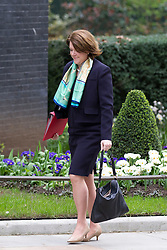 © Licensed to London News Pictures. 18/03/2014. London, UK. Maria Miller, the Culture Secretary, arrives for a meeting of the British cabinet on Downing Street in London today (18/03/2014). Photo credit: Matt Cetti-Roberts/LNP