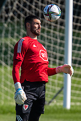 CARDIFF, WALES - Tuesday, September 7, 2021: Wales' goalkeeper Tom King during a training session at the Vale Resort ahead of the FIFA World Cup Qatar 2022 Qualifying Group E match between Wales and Estonia. (Pic by David Rawcliffe/Propaganda)