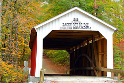 24 October 2017:  Zacke Cox Bridge.<br /> <br />  Parke County Indiana is the site of the Indiana Covered Bridge Festival every October