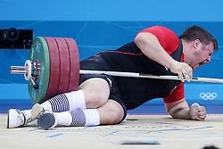 Olympic Games London 2012 - Olympische Spiele London 2012, Great Britain - Grossbritanien, weight lifting - Gewichtheben, men + 105kg - Maenner ueber 105kg, Matthias Steiner / GER.© pixathlon