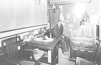 1914 Charles Toberman in his real estate office on Hollywood Blvd. at McCadden Pl.