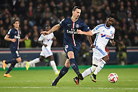 Swedish forward Zlatan Ibrahimovic of Paris Saint Germain in action during the French Championship Ligue 1 football match between Paris Saint Germain and Olympique de Marseille on November 9, 2014 at Parc des Princes stadium in Paris, France. Photo Jean Marie Hervio / Regamedia / DPPI