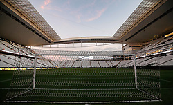 "May 10, 2018 - SãO Paulo, Brazil - SÃO PAULO, SP - 10.05.2018: CORINTHIANS X VITÃ""RIA - Inside view of the Corinthians Arena before starting between Corinthians and Vitória, valid for the second round of the second round of the 2018 Brazil Cup. (Credit Image: © Marcelo Machado De Melo/Fotoarena via ZUMA Press)"