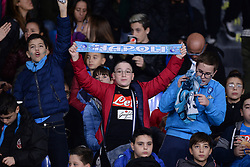 November 5, 2019, Napoli, Napoli, Italia: Foto Cafaro/LaPresse.5 Novembre 2019 Napoli, Italia.sport.calcio.SSC Napoli vs FC Salzburg - Uefa Champions League stagione 2019/20 Gruppo E, giornata 4 - stadio San Paolo.Nella foto: tifosi del Napoli...Photo Cafaro/LaPresse.November 5, 2019 Naples, Italy.sport.soccer.SSC Napoli vs FC Salzburg - Uefa Champions League 2019/20 season Group E matchday 4 - San Paolo stadium.In the pic: the SSC Napoli fans show their support. (Credit Image: © Cafaro/Lapresse via ZUMA Press)