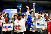 02032020 - Des Moines, Iowa, Bernie Sanders supporters participate in the Iowa Caucus. USA: Iowa Caucus goers participate in the 2020 Iowa Caucuses at Knapp Center at Drake University, Monday, February 3, 2020 in Des Moines, Iowa. (Jeremy Hogan/Polaris)
