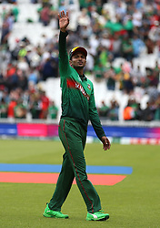Bangladesh's Shakib Al Hasan after the game against South Africaduring the ICC Cricket World Cup group stage match at The Oval, London.