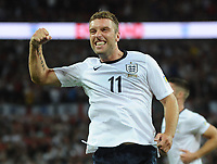 Football - World Cup 2014 Qualifier - Group H: England vs. Moldova<br /> Rickie Lambert - England celebrates scoring goal no.2 <br /> <br /> <br /> Credit : Colorsport / Andrew Cowie