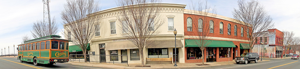Panorama of West Main Street in downtown Charlottesville, Virginia