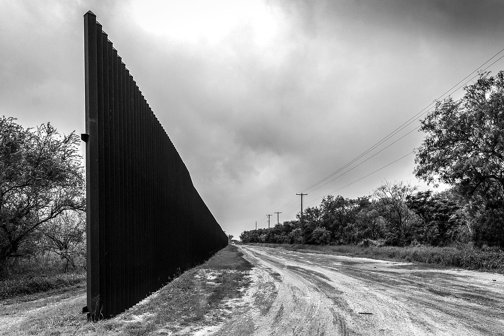 A section of the border fence in Los Indios not far from the International bridge in Los Indios, TX, USA.