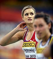 Friidrett<br /> Innendørs-VM 2010<br /> Doha<br /> 12.03.2010<br /> Foto: Hasse Sjögren, Digitalsport<br /> NORWAY ONLY<br /> <br /> Christina Vukicevic<br /> 60 meter hekk