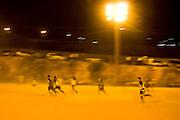 Belo Horizonte_MG, Brasil...1a Copa Kaiser de Futebol Amador de Belo Horizonte. Na foto partida entre Manchester FC (Preto) 1 x 2 Gremio ME (Azul)...1st Kaiser Cup of Amateur Football in Belo Horizonte. The match was between Manchester FC (black) 1 x 2 Gremio ME (blue)...Foto: NIDIN SANCHES / NITRO