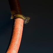 soil waste pipe half emersed