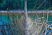 Riesige Brücke aus Bambus, Along, Arunachal Pradesh, Nordost Indien*Giant bridge made from Bamboo across the Siang river, near Along, Arunachal Pradesh, Northeast India