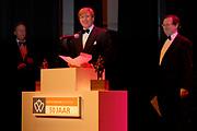 Uitreiking Koning Willem 1 Prijs in theater Diligentia in den Haag.<br /> <br /> <br /> <br /> Presentation of the King Willem 1 award for best inovating company in the Hague.<br /> <br /> <br /> <br /> Op de foto/ On the photo  Willem Alexander