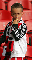 Crystal Palace FC vs Sheffield United FC Championship 03/05/2009<br /> Photo Nicky Hayes/Fotosports International<br /> Life sucks for this young Sheff Utd fan.