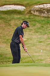 March 23, 2018 - Austin, TX, U.S. - AUSTIN, TX - MARCH 23: Bubba Watson chips onto the green during the third round of the WGC-Dell Technologies Match Play on March 23, 2018 at Austin Country Club in Austin, TX. (Photo by Daniel Dunn/Icon Sportswire) (Credit Image: © Daniel Dunn/Icon SMI via ZUMA Press)