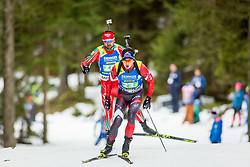 Andrejs Rastorgujevs (LAT) during Single Mixed Relay at day 1 of IBU Biathlon World Cup 2018/19 Pokljuka, on December 2, 2018 in Rudno polje, Pokljuka, Pokljuka, Slovenia. Photo by Ziga Zupan / Sportida