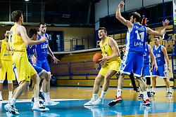 Dino Murić of GGD Sencur during basketball match between GGD Sencur and Zlatorog Lasko in First Round of 1. SKL 2020/21, on October 31, 2020 in Sport hall Sencur, Sencur, Slovenia. Photo by Grega Valancic / Sportida
