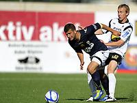 Fotball<br /> Norge<br /> NM - Norgesmesterskapet<br /> Tredje runde<br /> Asker v Stabæk 2:1<br /> Foto: Morten Olsen, Digitalsport<br /> <br /> Kevin Nicol - Asker<br /> Adnan Haidar - Stabæk