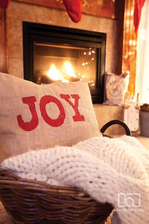 Home decorated for the Holidays. Photo by Brandon Alms Photography