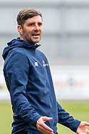 Ben Strevens Manager of Eastleigh during the Vanarama National League match between Eastleigh and Woking at Silverlake Stadium, Eastleigh, United Kingdom on 10 April 2021.