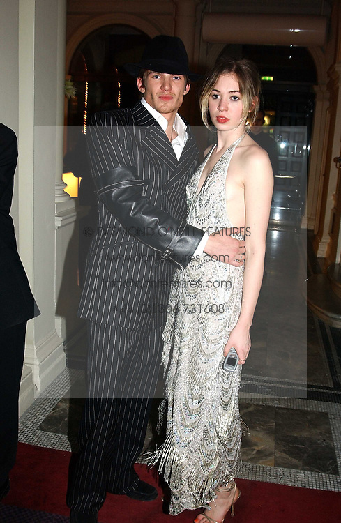 MISS ANOUSKA GERHAUSER daughter of Tamara Beckwith and MR JACOBI ANSTRUTHER-GOUGH-CALTHORPE at Andy & Patti Wong's Chinese New Year party to celebrate the year of the Rooster held at the Great Eastern Hotel, Liverpool Street, London on 29th January 2005.  Guests were invited to dress in 1920's Shanghai fashion.<br /><br />NON EXCLUSIVE - WORLD RIGHTS
