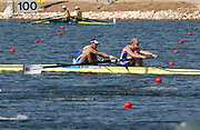 20040819 Olympic Games Athens Greece [Rowing]<br /> Schinias   -    Photo  Peter Spurrier<br /> GBR m2- B final winners left Toby Garbutt and Rick Dunn<br /> <br /> Images@intersport-images.com<br /> Tel +44 7973 819551<br /> [Mandatory Credit Peter Spurrier/ Intersport Images]