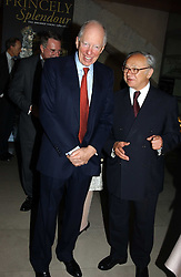 Left to right, LORD ROTHSCHILD and HUBERT BURDA at the opening of 'Princely Splendour; The Dresden Court 1580-1620' a new temporary exhibition at The Gilbert Collection, Somerset House, London sposored by Hubert Bruda Media, The Schroder Family and WestLB AG on 8th June 2005.<br />