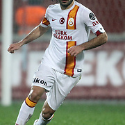 Galatasaray's Selcuk inan during their Turkish superleague soccer derby match Trabzonspor between Galatasaray at the Avni Aker Stadium in Trabzon Turkey on Sunday, 23 December 2012. Photo by TURKPIX