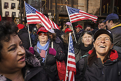 March 23, 2019 - Manhattan, New York, U.S. - Trump supporters gathered outside of Trump Tower on 5th Avenue in Manhattan for Rally For Trump on Saturday in Manhattan. (Credit Image: © Go Nakamura/ZUMA Wire)