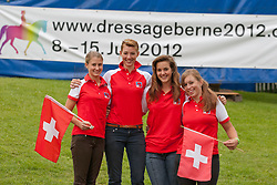 Team Switzerland Ackermann Sabrina, Hartmann Anthea, Tardin Dominique, Von Bremen Philine<br /> FEI European Dressage Championships for Young Riders and Juniors 2011<br /> © Hippo Foto - Leanjo de Koster