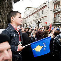 """Pristina, Kosovo 17 February 2011<br /> Kosovars celebrate the third anniversary of Kosovo's declaration of independence from Serbia.<br /> After the Kosovo War and the 1999 NATO bombing of Yugoslavia, the territory of Kosovo came under the interim administration of the United Nations Mission in Kosovo (UNMIK), and most of those roles were assumed by the European Union Rule of Law Mission in Kosovo (EULEX) in December 2008. <br /> In February 2008 individual members of the Assembly of Kosovo declared Kosovo's independence as the Republic of Kosovo. Its independence is recognised by 75 UN member states. <br /> On 8 October 2008, upon request of Serbia, the UN General Assembly adopted a resolution asking the International Court of Justice for an advisory opinion on the issue of Kosovo's declaration of independence.<br /> On 22 July 2010, the ICJ ruled that Kosovo's declaration of independence did not violate international law, which its president said contains no """"prohibitions on declarations of independence"""".<br /> Photo: Ezequiel Scagnetti"""