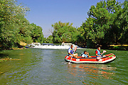 Israel, Upper Galilee, Rafting in the Jordan river