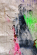 paint on wall - red, black and green, The colours of Palestine flag. Abstract background