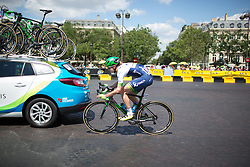 Loren Rowney (AUS) of Orica-AIS Cycling Team tries to regain contact with the front group during the La Course, a 89 km road race in Paris on July 24, 2016 in France.